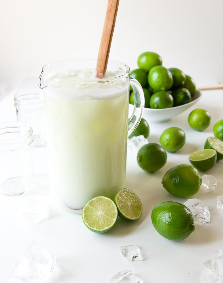 Como fazer limonada suíça no liquidificador, suco de limão!